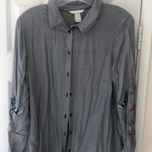 H&M embroidered shirt! New with tags!